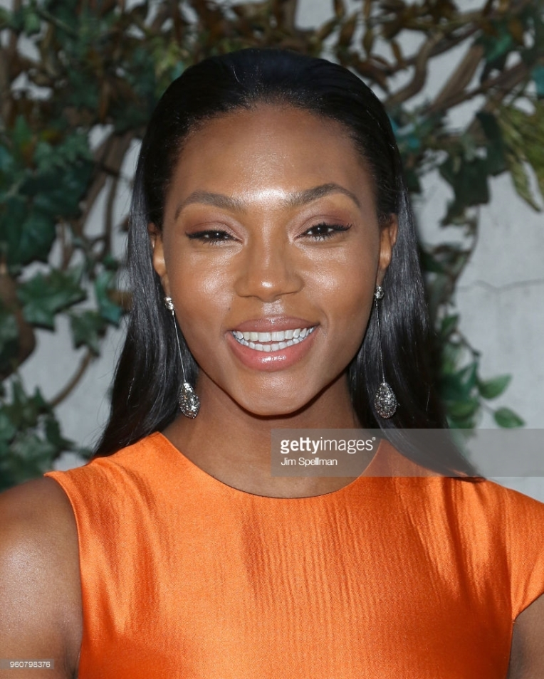 """attends the party for Ava DuVernay and """"Queen Sugar"""" hosted by OWN at Laduree Soho on May 20, 2018 in New York City."""