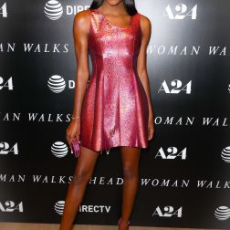 -New York, NY - 20180626 - New York Special Screening of Woman Walks Ahead, at The Whitby Hotel Theater -PICTURED: Afiya Bennett -PHOTO by: JOHN NACION/startraksphoto.com This is an editorial, rights-managed image. Please contact Startraks Photo for licensing fee and rights information at sales@startraksphoto.com or call +1 212 414 9464 This image may not be published in any way that is, or might be deemed to be, defamatory, libelous, pornographic, or obscene. Please consult our sales department for any clarification needed prior to publication and use. Startraks Photo reserves the right to pursue unauthorized users of this material. If you are in violation of our intellectual property rights or copyright you may be liable for damages, loss of income, any profits you derive from the unauthorized use of this material and, where appropriate, the cost of collection and/or any statutory damages awarded