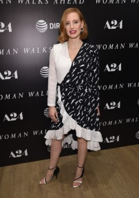 Jessica+Chastain+Dresses+Skirts+Wrap+Dress+ahRfM8Y_Lual