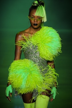 Afiya Bennett walks the runway during The Blonds Spring 2019 Collection Fashion Show in New York City on September 7th, 2018