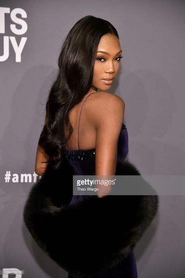 NEW YORK, NY - FEBRUARY 06: Afiya Bennett attends the amfAR New York Gala 2019 at Cipriani Wall Street on February 6, 2019 in New York City. (Photo by Theo Wargo/Getty Images)